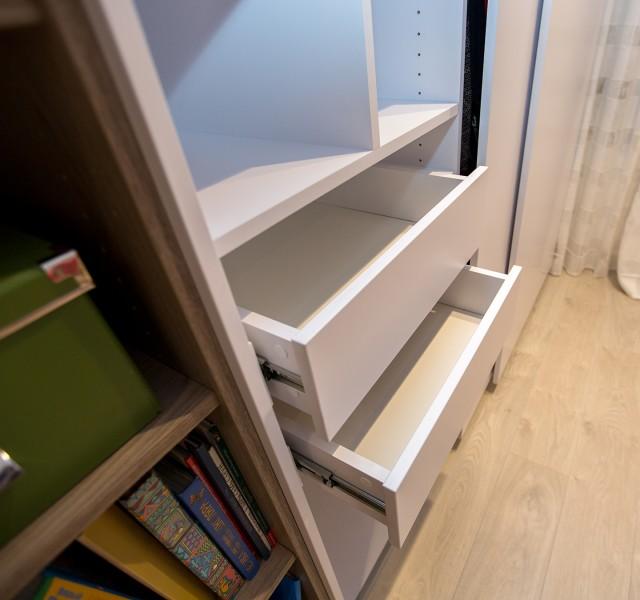 Шкаф-стеллаж раздвижной Практик 12