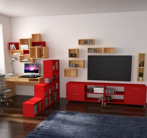 Гостиная-домашний офис Идея #1