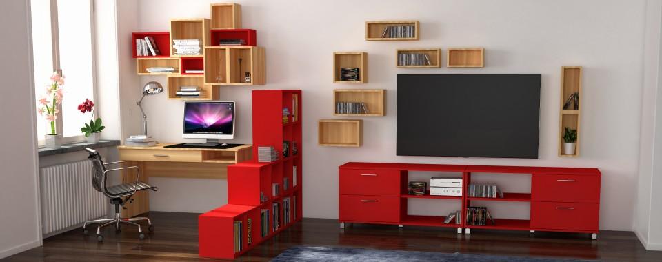 модульная мебель Idea для гостиной с рабочим местом