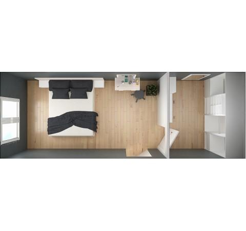 Спальня-гардеробная Идея #6
