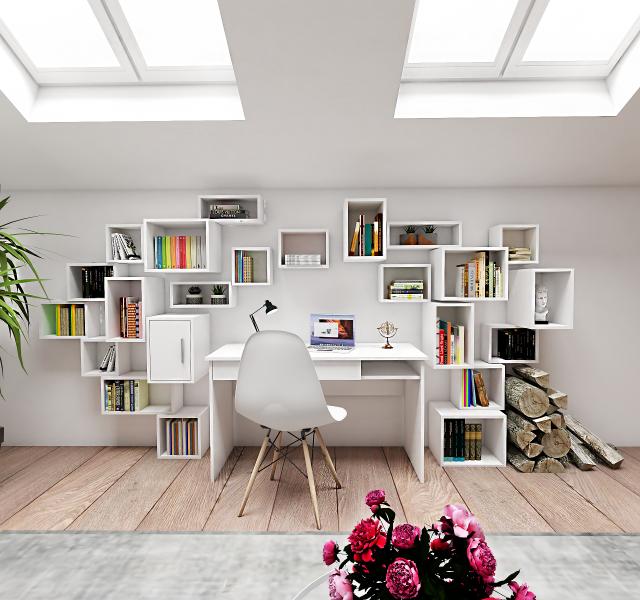 Гостиная-домашний офис Идея #3