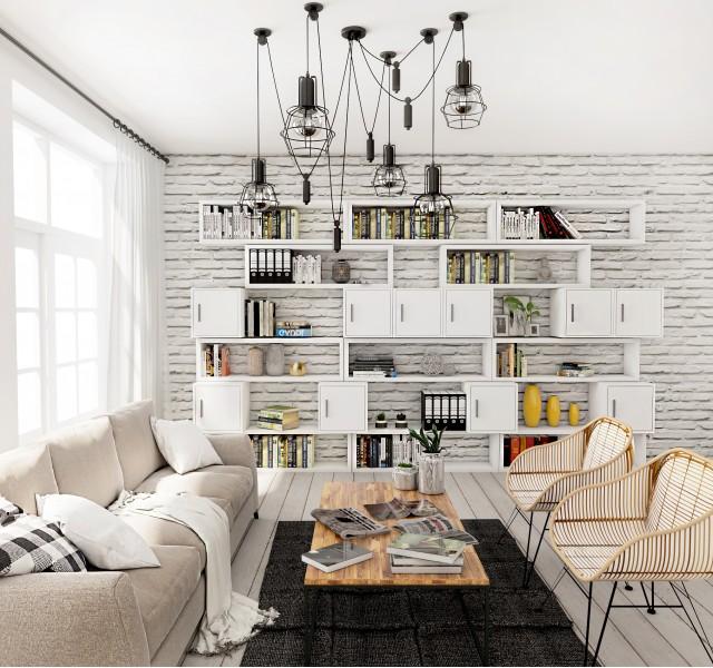 Гостиная-библиотека Идея #6