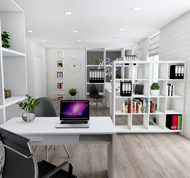 Идея офиса для 4 сотрудников