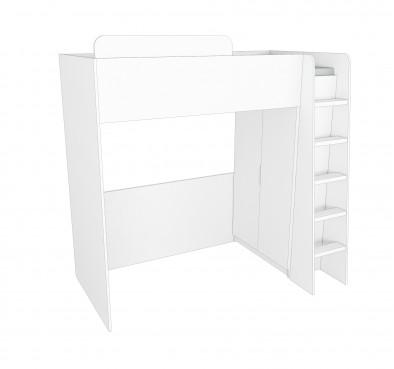 Кровать-чердак Мульти Нест 5.1 + шкаф