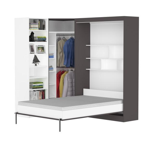 Шкаф-кровать угловой Практик 27