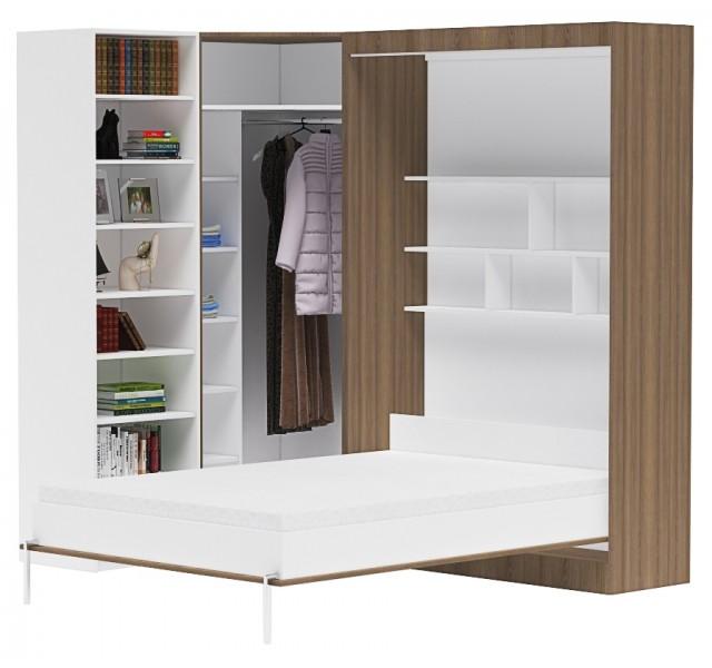 Шкаф-кровать угловой Практик