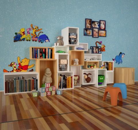 Стеллаж для игрушек в детскую Элемент #3