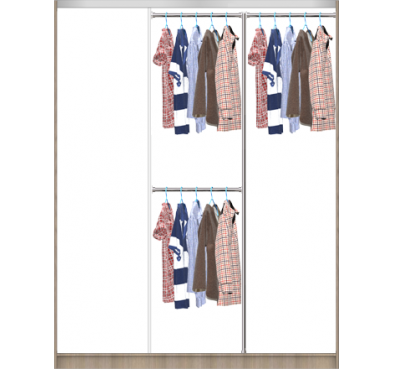 Корпус шкафа для раздвижных дверей (размер M)