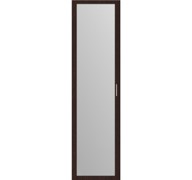 Дверь распашная Венге + зеркало