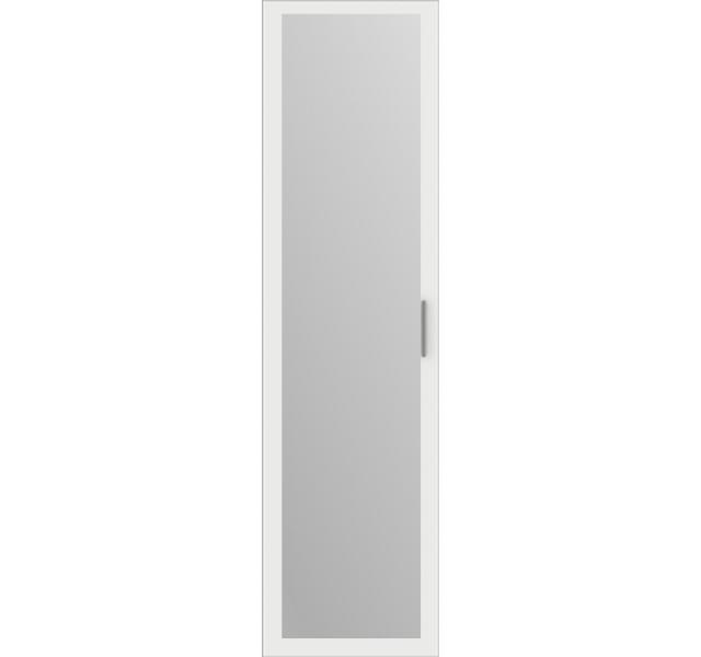 Дверь распашная Белая + зеркало