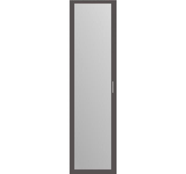 Дверь распашная Графит + зеркало