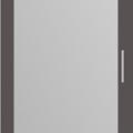 thumb_Дверь распашная Графит + зеркало