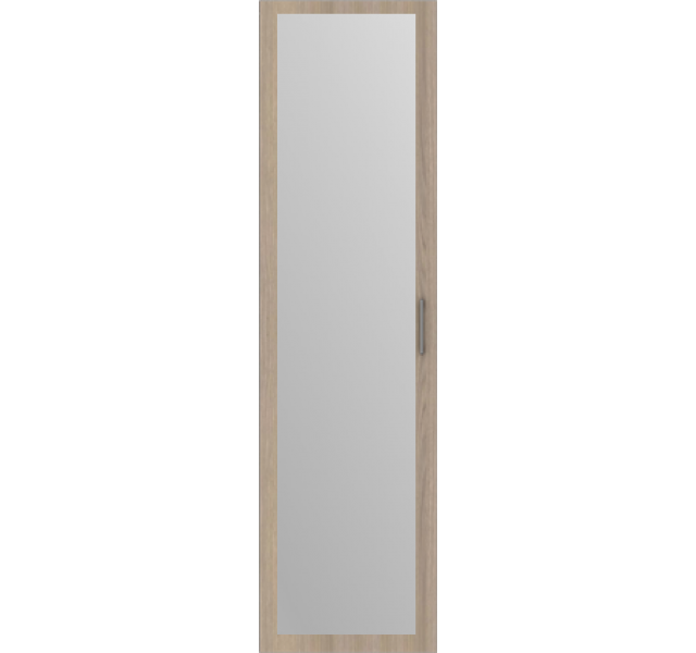 Дверь распашная Дуб Винтаж + зеркало