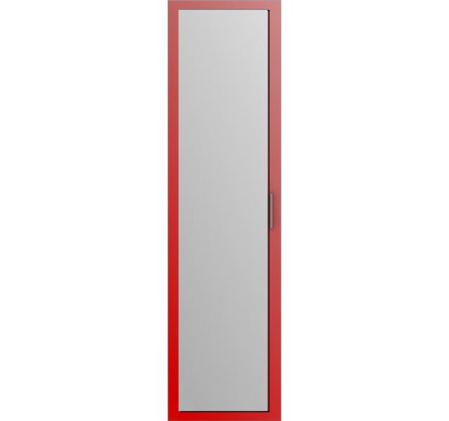 Дверь распашная Красная + зеркало