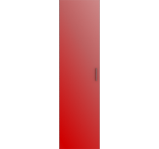 Дверь распашная Красная
