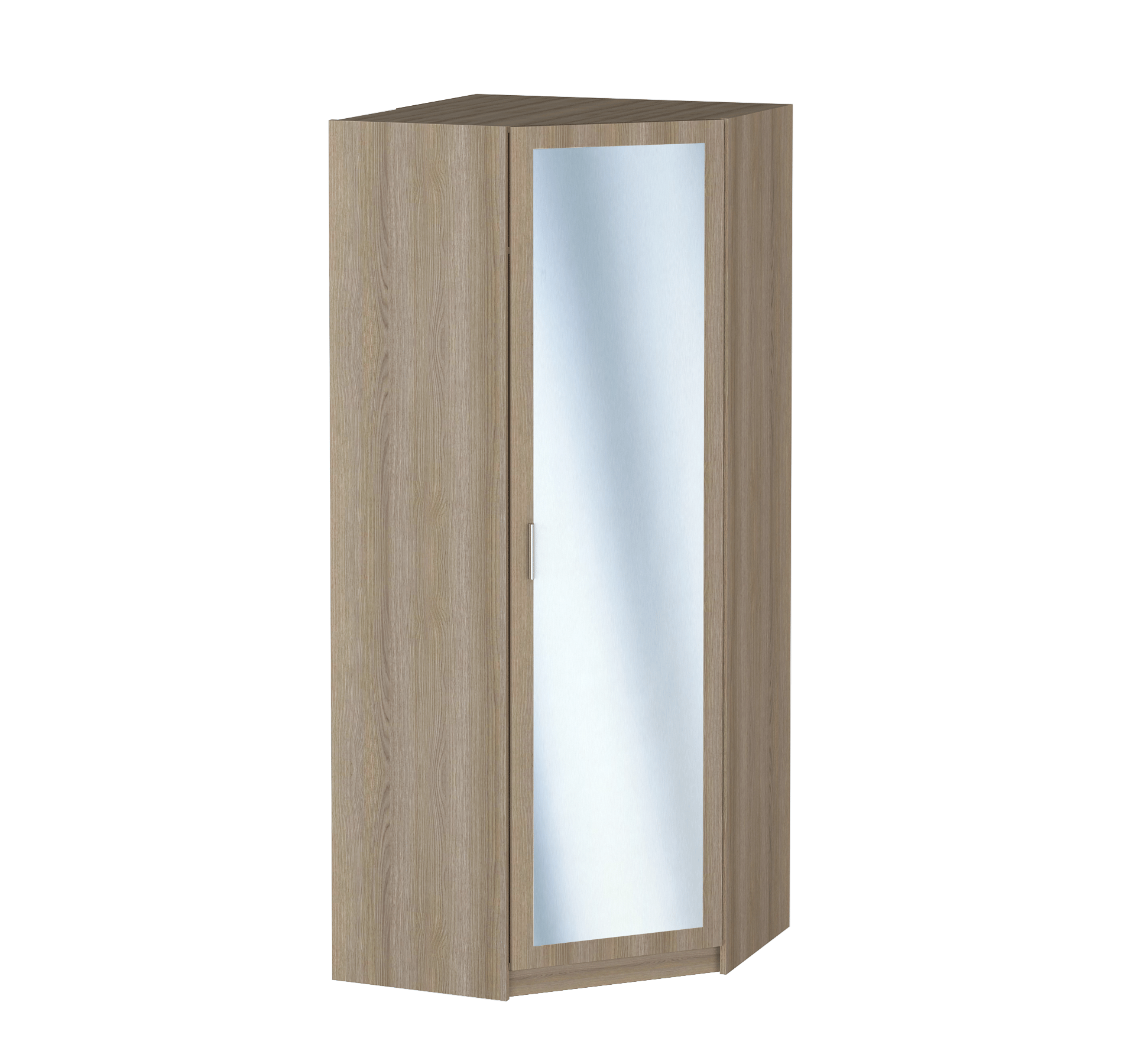 Шкаф угловой распашной Практик + зеркало